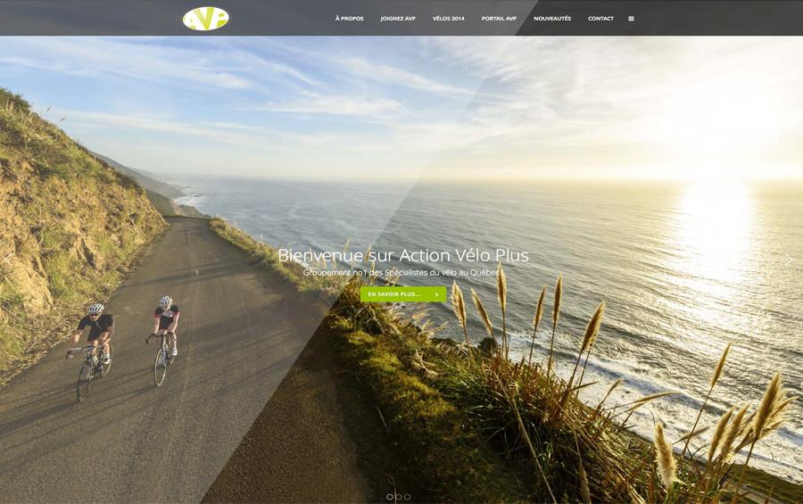Action Vélo Plus Web site Québec