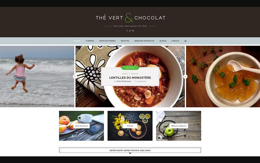 Thé Vert et Chocolat Sylvie Charbonneau