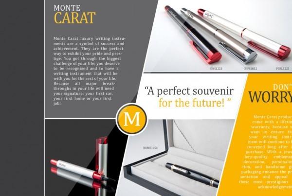 Dépliant Monte Carat | Projet design