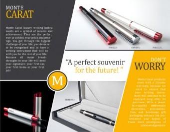 Monte Carat Jostens crayon stylo logo corporatif souvenir étudiant finissant graduation