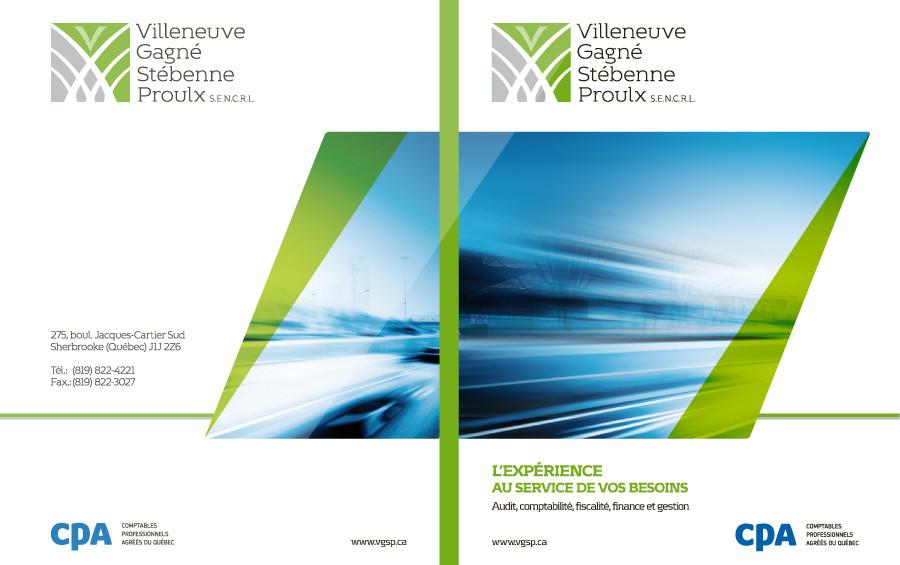 Villeneuve Gagné Stébenne Proulx – Pochette corporative | Projet design