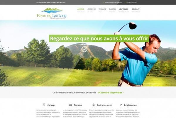 Le Havre du Lac Long | Projet site web