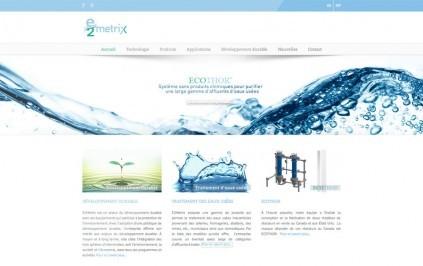 e2 metrix site web système traitement des eaux usées développement durable