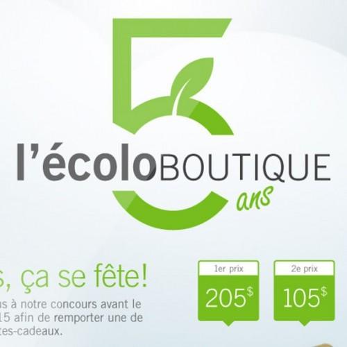 l'Écolo Boutique 5 ans   Concours Facebook