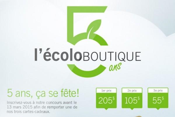 l'Écolo Boutique 5 ans | Concours Facebook