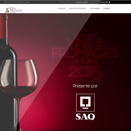 Le Salon des vins et fromages de l'Estrie | Projet Site Web