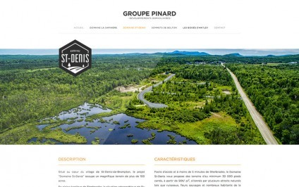 Groupe Pinard terrain à vendre