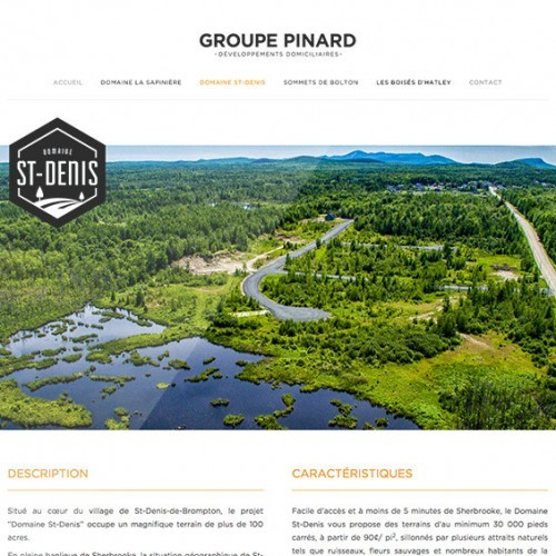 Groupe Pinard | Projet Site Web