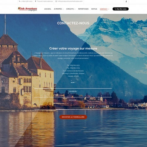 Club Aventure de Sherbrooke | Site Web