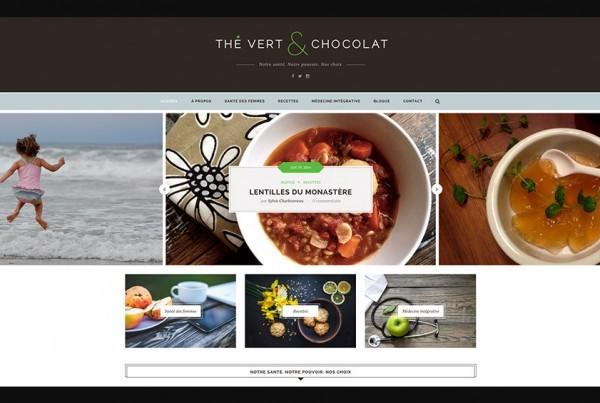 Thé vert & Chocolat infusé par Sylvie Charbonneau