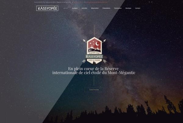 Camping Kassyopée | Site Web et logo