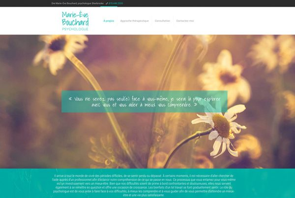 marie-ève bouchard Psychologue sherbrooke service consultation