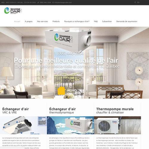 Echangeurdair.com  |  Site web et référencement