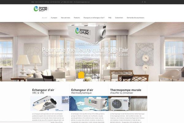 Échangeur d'AIR  |  Site web et référencement