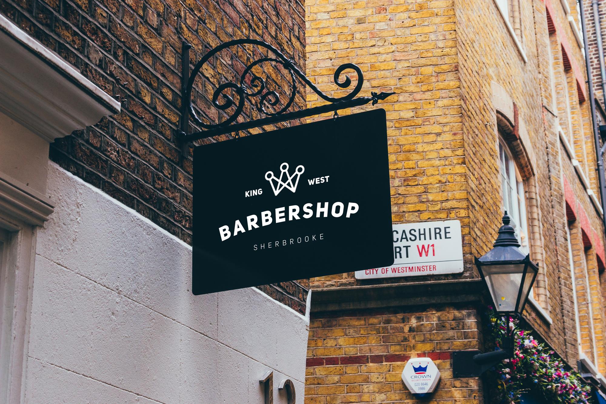 barbershop enseigne extérieure