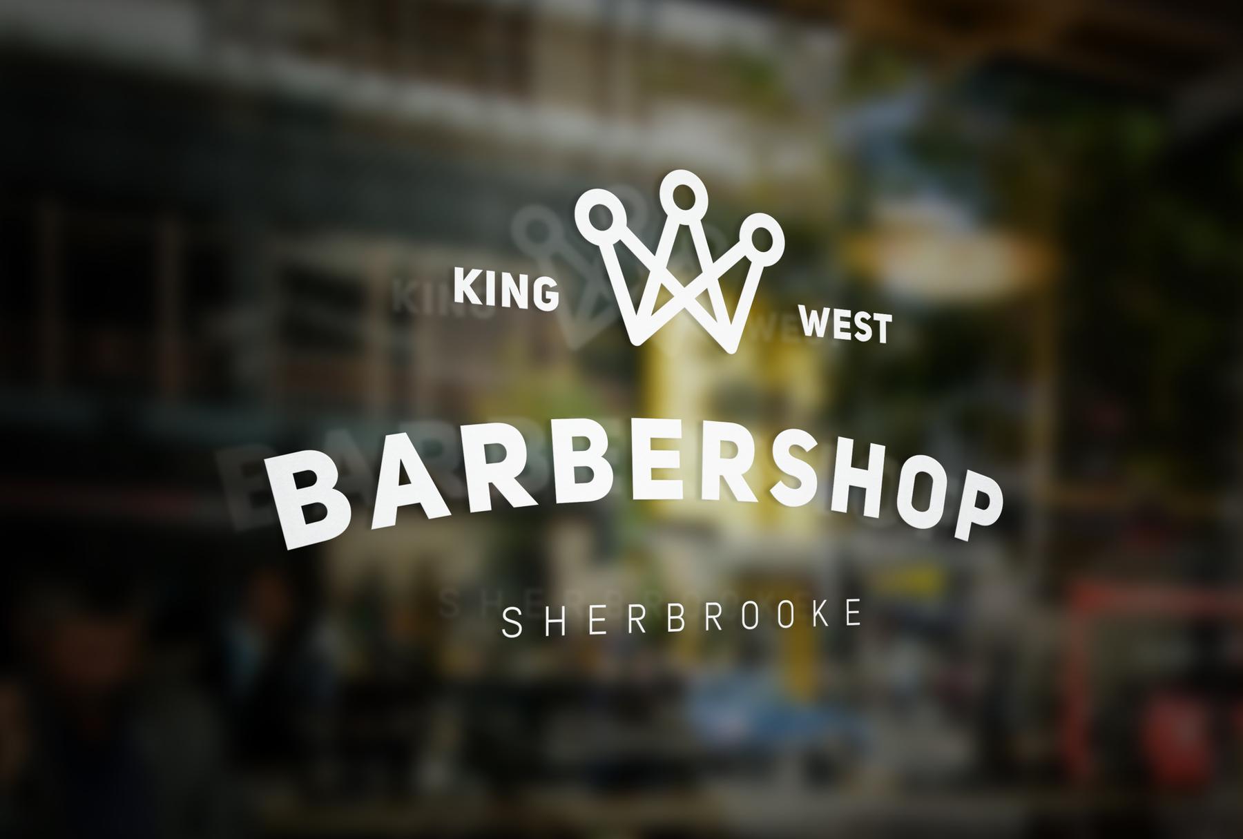barber shop logo vitrine
