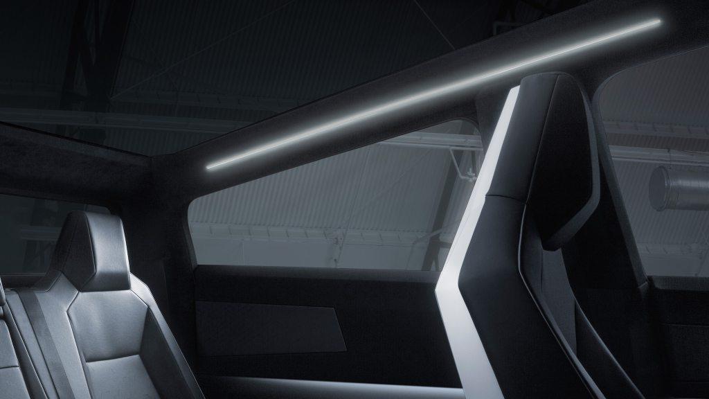 tesla cybertruck vue intérieur